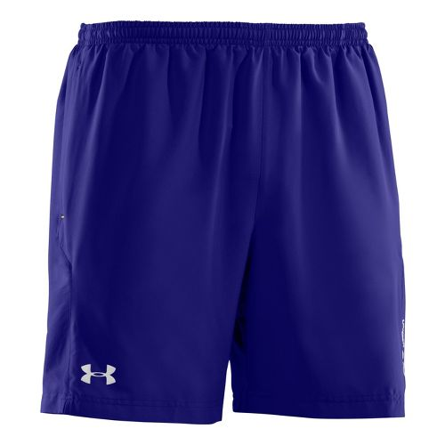 Mens Under Armour Escape 7 Lined Shorts - Caspian/High Vis Yellow S