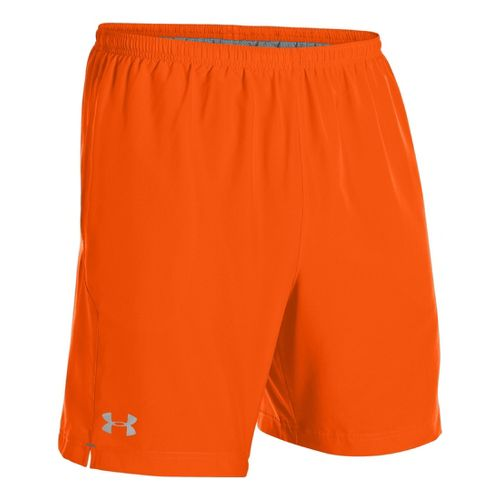 Mens Under Armour Escape 7 Lined Shorts - Orange/Graphite M