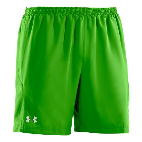 Mens Under Armour Escape 7 Lined Shorts - Parrot Green/Reflective XL