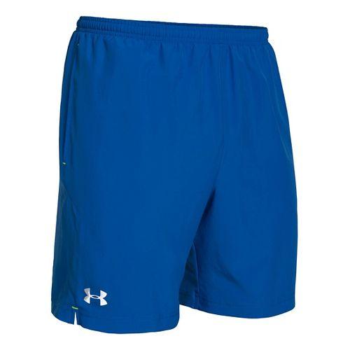 Mens Under Armour Escape 7 Lined Shorts - Scatter/Hi-Viz Yellow XL
