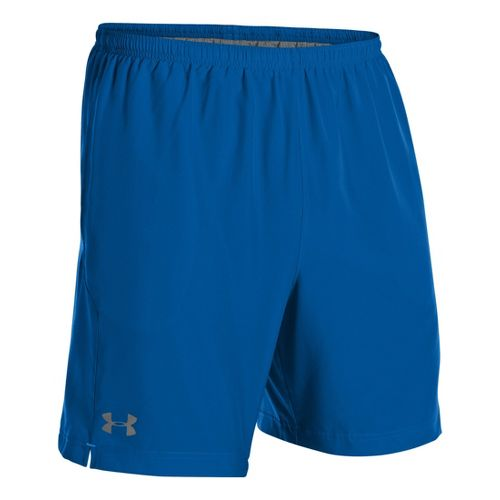Mens Under Armour Escape 7 Lined Shorts - Superior Blue/Electric Blue L