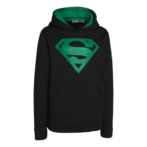 Kids Under Armour Boys Armour Fleece Storm Alter Ego Hoody Warm-Up Hooded Jackets - Black/Blade ...