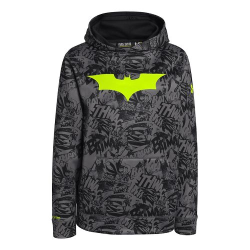Kids Under Armour Boys Armour Fleece Storm Alter Ego Hoody Warm-Up Hooded Jackets - Black/High ...
