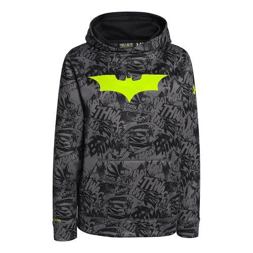 Kids Under Armour Boys Armour Fleece Storm Alter Ego Hoody Warm-Up Hooded Jackets - Black/High ...