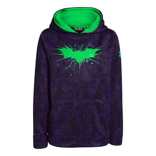 Kids Under Armour Boys Armour Fleece Storm Alter Ego Hoody Warm-Up Hooded Jackets - Purple ...