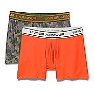 Kids Under Armour Boys Original-Series Boxer Jock Novelty (Two Pack) Boxer Brief Underwear Bottoms