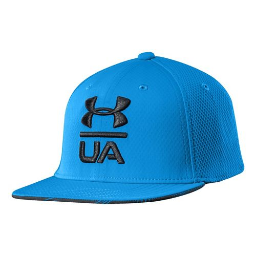 Kids Under Armour Boys Eyes Up Stretch Fit Cap Headwear - Electric Blue XS/S