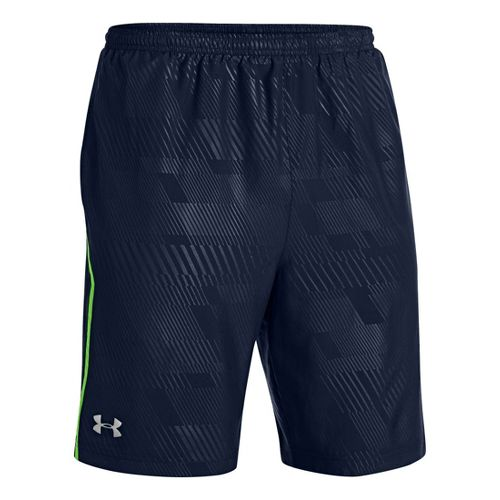 Mens Under Armour Escape 9 Woven Lined Shorts - Academy/Gecko Green S