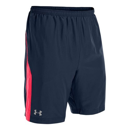 Mens Under Armour Escape 9 Woven Lined Shorts - Academy/Neo Pulse L