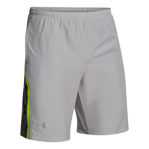 Mens Under Armour Escape 9 Woven Lined Shorts - Aluminum L