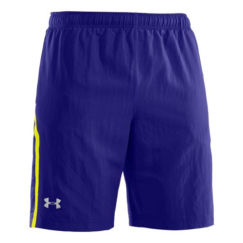 Mens Under Armour Escape 9 Woven Lined Shorts - Caspian/Caspian L