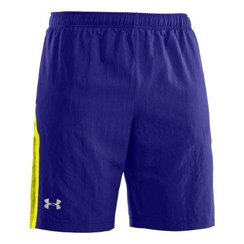 Mens Under Armour Escape 9 Woven Lined Shorts - Caspian/High Vis Yellow XXL