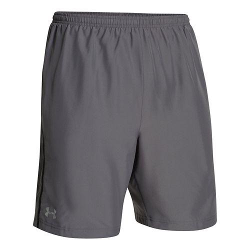 Mens Under Armour Escape 9 Woven Lined Shorts - Graphite M