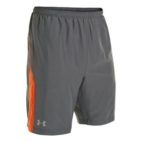 Mens Under Armour Escape 9 Woven Lined Shorts - Graphite/Orange XXL