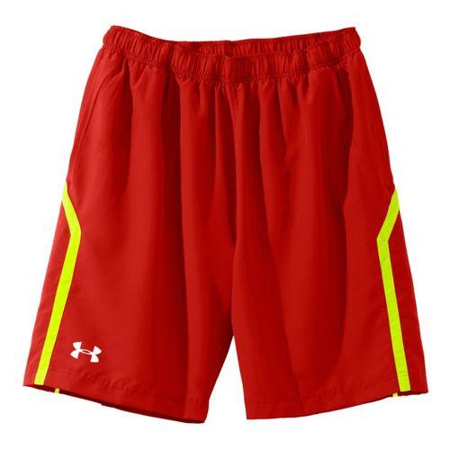 Mens Under Armour Escape 9 Woven Lined Shorts - Orange/Reflective XL