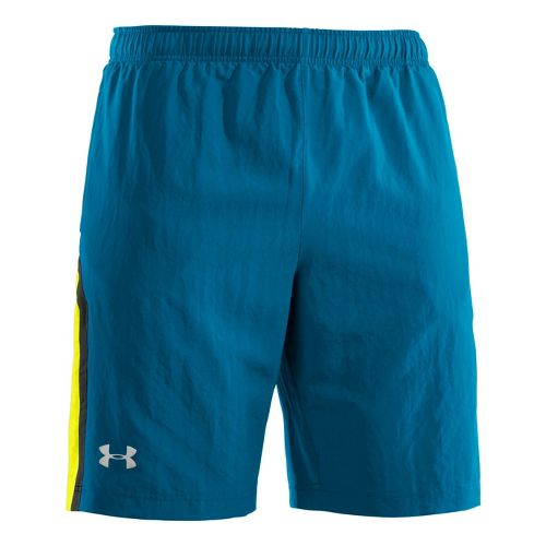 Mens Under Armour Escape 9 Woven Lined Shorts - Snorkel/Taxi XL