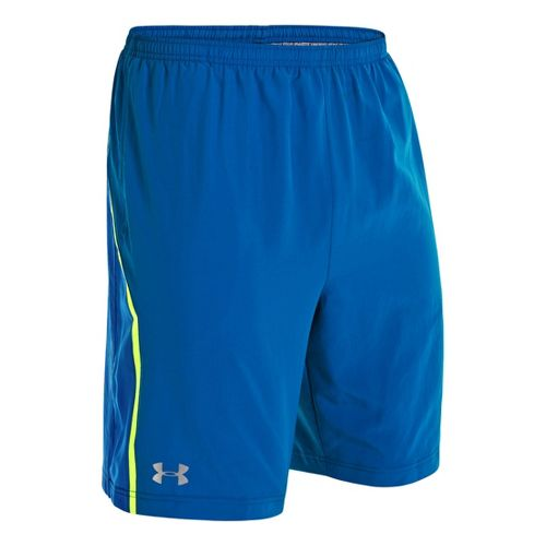 Mens Under Armour Escape 9 Woven Lined Shorts - Superior Blue/High Vis Yellow L