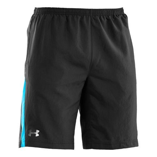 Mens Under Armour Run Like a Baller 10'' Lined Shorts - Black/Snorkel M