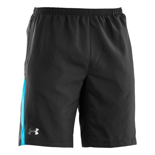 Mens Under Armour Run Like a Baller 10'' Lined Shorts - Black/Snorkel XL