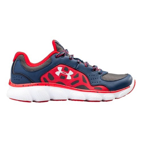 Kids Under Armour Boys PS Assert IV Trail Running Shoe - Academy/Red 3