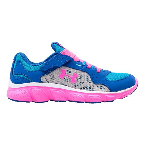 Kids Under Armour Girls PS Assert IV AC Running Shoe - Scatter/Chaos 2.5
