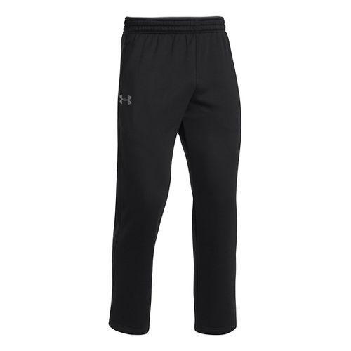 Mens Under Armour Fleece Storm Pants - Black/Steel M