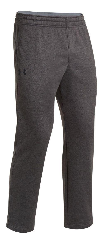 Mens Under Armour Fleece Storm Pants - Carbon Heather/White S