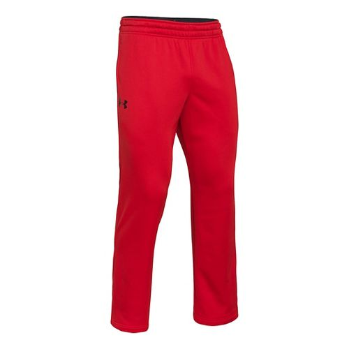 Mens Under Armour Fleece Storm Cold weather Pants - Risk Red/Anthracite XL