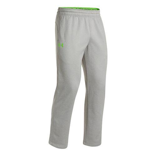 Mens Under Armour Fleece Storm Cold weather Pants - True Grey Heather/Gecko Green M
