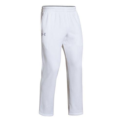 Mens Under Armour Fleece Storm Cold weather Pants - White/Steel L