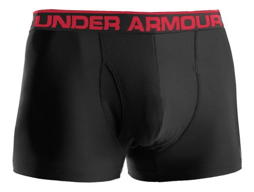 Mens Under Armour The Original BoxerJock 3'' Underwear Bottoms - Black/Red S