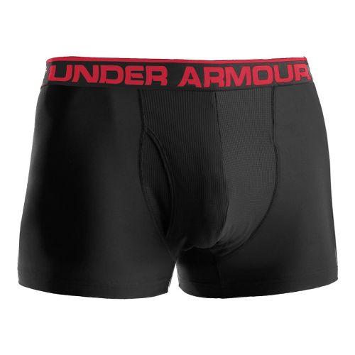 Mens Under Armour The Original BoxerJock 3'' Underwear Bottoms - Black/Red L