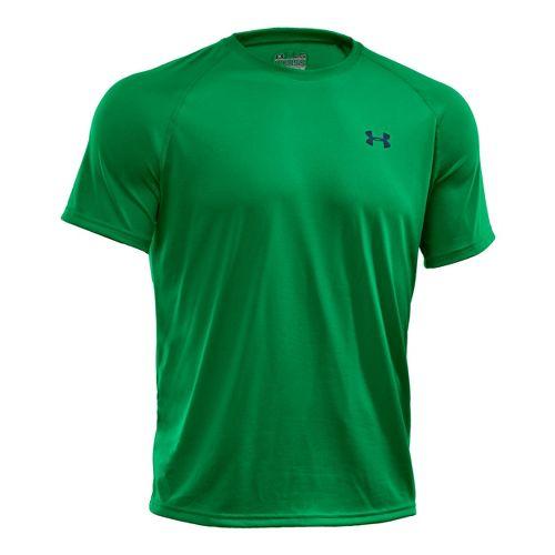 Mens Under Armour Tech T Short Sleeve Technical Tops - Astro Green/Black M