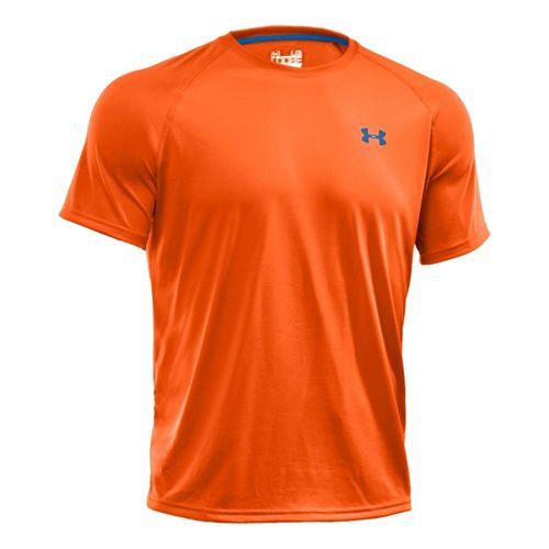 Mens Under Armour Tech T Short Sleeve Technical Tops - Blaze Orange/Black XL