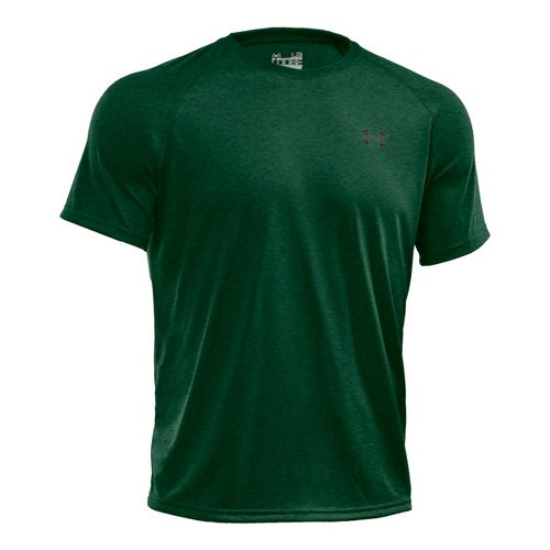 Mens Under Armour Tech T Short Sleeve Technical Tops - Forest Green/Graphite XXL