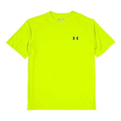 Mens Under Armour Tech T Short Sleeve Technical Tops - High Vis Yellow/Black L