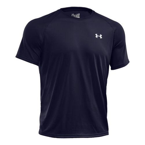 Mens Under Armour Tech T Short Sleeve Technical Tops - Midnight Navy XXL