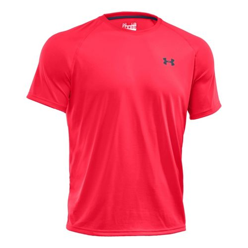 Mens Under Armour Tech T Short Sleeve Technical Tops - Neo Pulse/Academy M