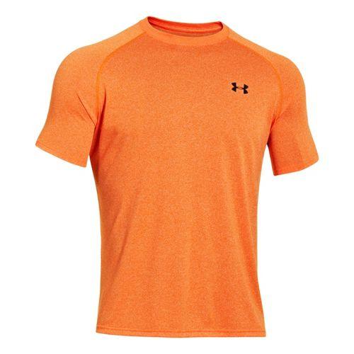 Mens Under Armour Tech T Short Sleeve Technical Tops - Orange/Black XS