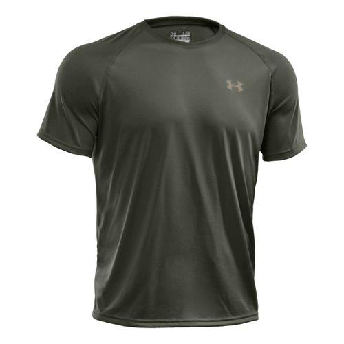 Mens Under Armour Tech T Short Sleeve Technical Tops - Rifle Green M