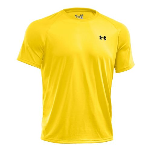 Mens Under Armour Tech T Short Sleeve Technical Tops - Taxi/Graphite XS