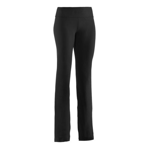 Womens Under Armour Perfect Full Length Pants - Black/Metallic Pewter ST