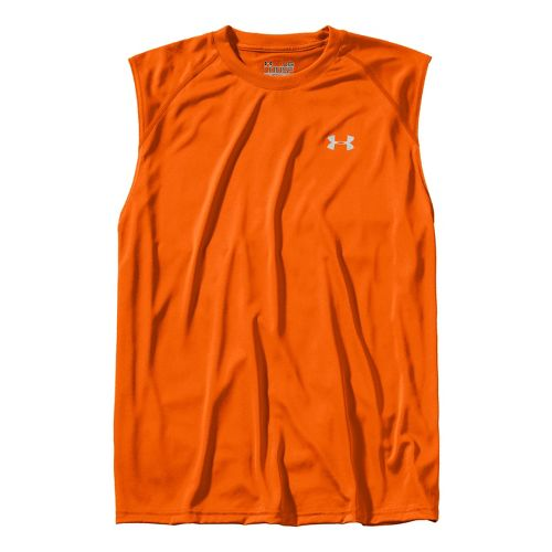 Mens Under Armour Tech T Sleeveless Technical Tops - Vivid/White L