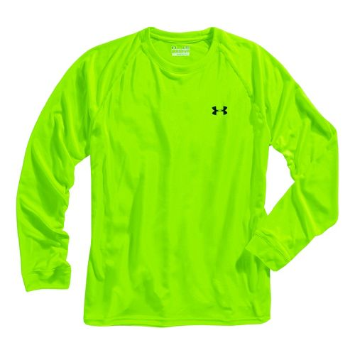 Mens Under Armour Tech T Long Sleeve No Zip Technical Tops - Hyper Green/Black XXL ...