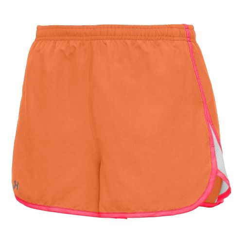 Womens Under Armour TG Escape 3 Lined Shorts - After Glow/Neo Pulse S