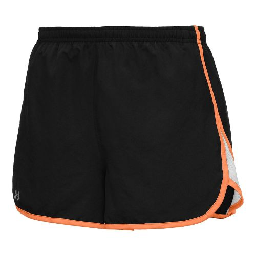 Womens Under Armour TG Escape 3 Lined Shorts - Black/After Glow L