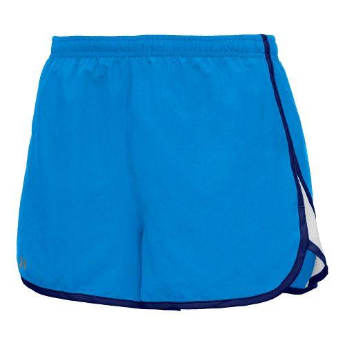 Womens Under Armour TG Escape 3 Lined Shorts - Electric Blue/Caspian L