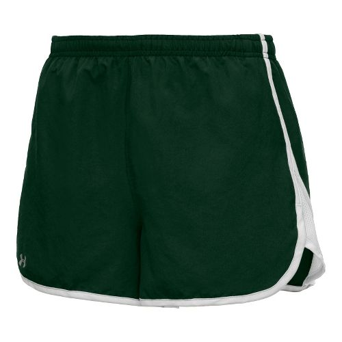 Womens Under Armour TG Escape 3 Lined Shorts - Forest Green/White L