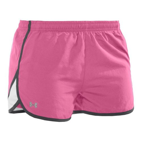 Womens Under Armour TG Escape 3 Lined Shorts - Fluo Pink/Graphite L