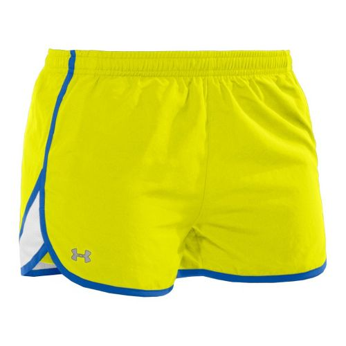 Womens Under Armour TG Escape 3 Lined Shorts - High Vis Yellow/Water M